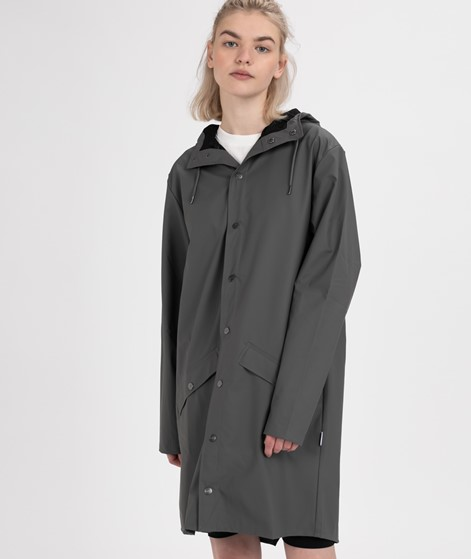 RAINS Long Jacket Jacke charcoal