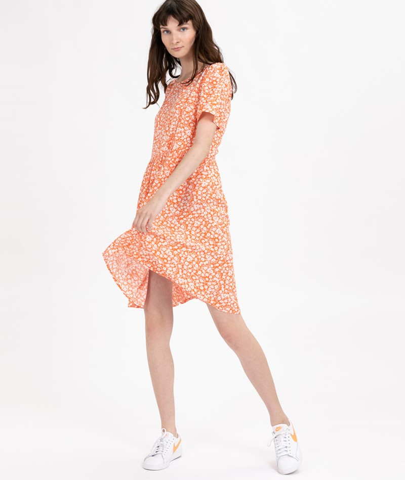 VILA VIAnger S/S Kleid vermillion orange