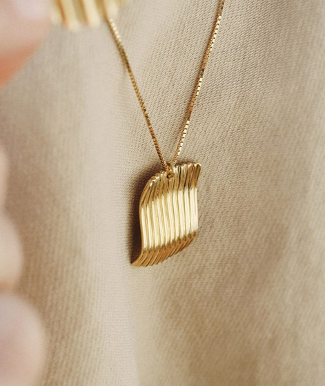 JUKSEREI Square Chips Kette gold