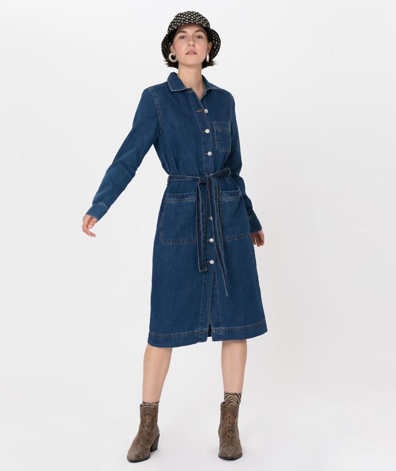 GLOBAL FUNK Etta Kleid medium blue
