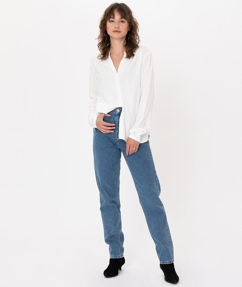 WHY7 Dana HW Mom Jeans light blue