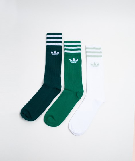 ADIDAS Solid Crew Socken green white