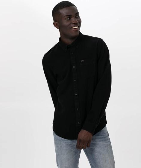 LEE Button Down Hemd black