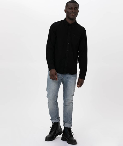LEE Button Down Hemd black
