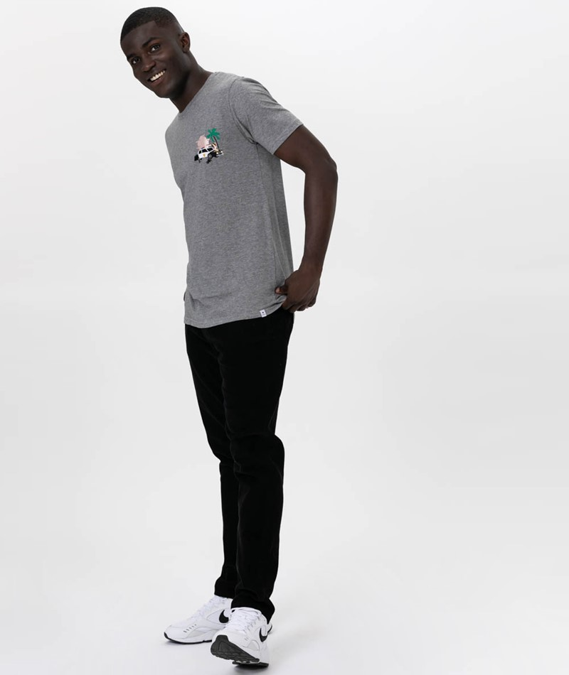 REVOLUTION POL T-Shirt grey melange