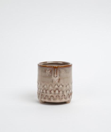 MADAM STOLTZ Flower Pot w/face imprint b