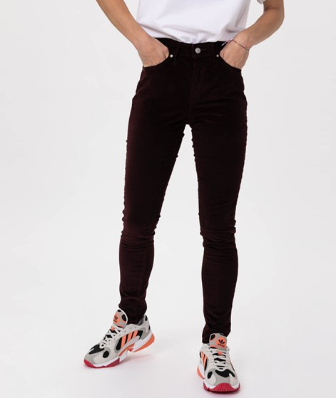 LEVIS High Rise Skinny Jeans malbec luxe