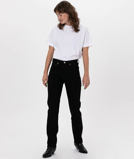 LEVIS 501 Crop Jeans black heart