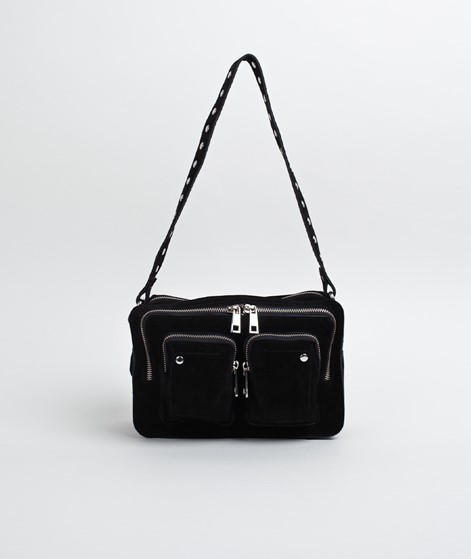 NUNOO Ellie New Suede Handtasche black