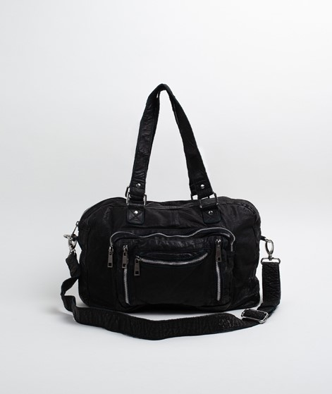 NÚNOO Mille Washed Leather Shopper black