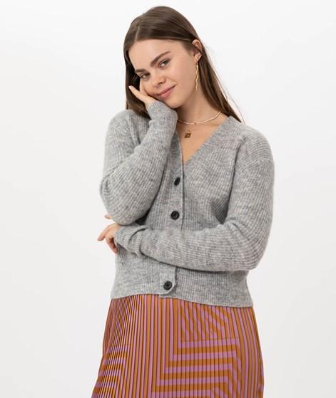 JUST FEMALE Rebelo Knit Cardigan Grey