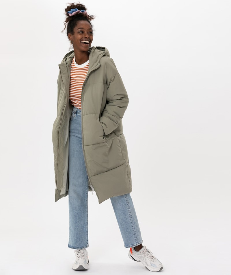EMBASSY Elphin Down Coat Jacke pale oliv