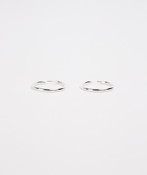 TOODREAMY Chunky Hoops silber
