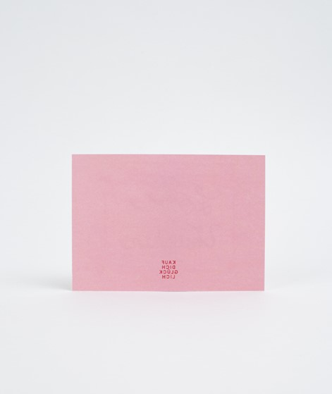KAUF DICH GLÜCKLICH Postkarte LOVE