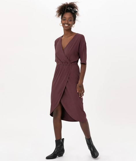 MOSS COPENHAGEN Myla Kimmie Dress Wine