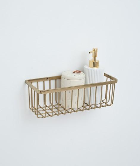 HOUSE DOCTOR Bath Basket brushed brass