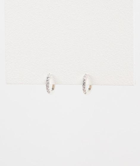 ESTELLA BARTLETT Pave Set Hoop Earrings