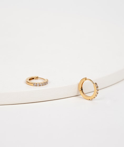ESTELLA BARTLETT Pave Set Hoop Earrings