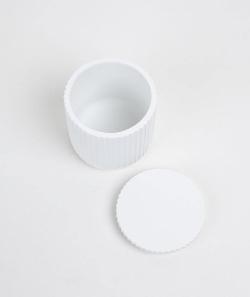 BLOOMINGVILLE Jar w/Lid Box white