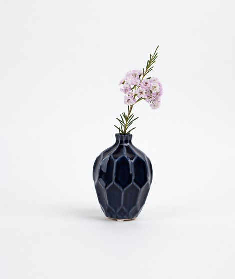 BROSTE Amalfi klein hoch Vase blue night