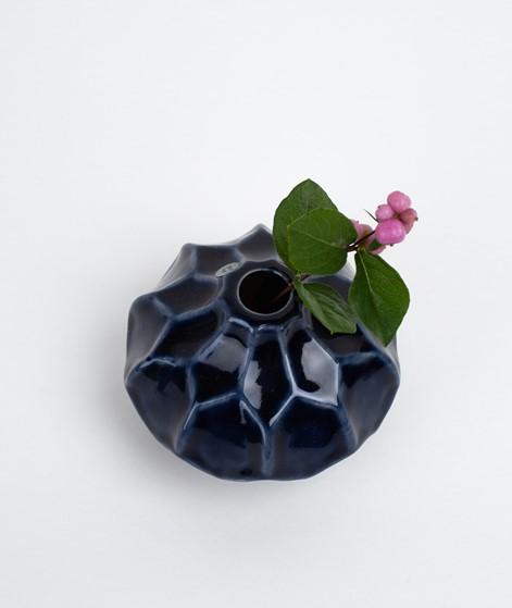 BROSTE Amalfi klein flach Vase blue