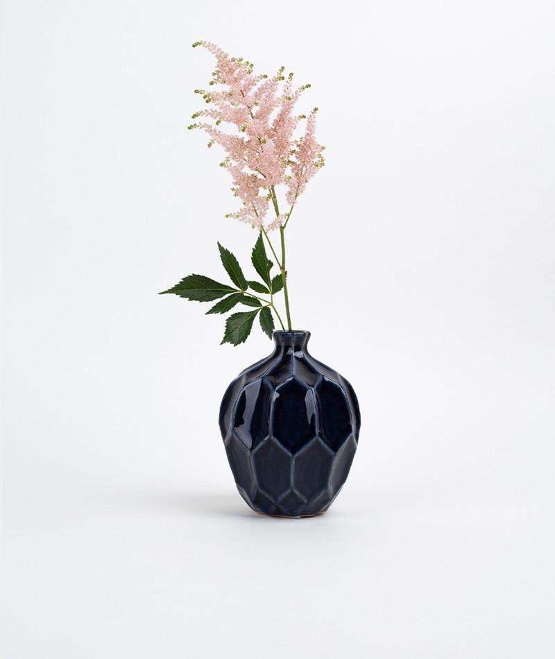 BROSTE Amalfi groß Vase blue night