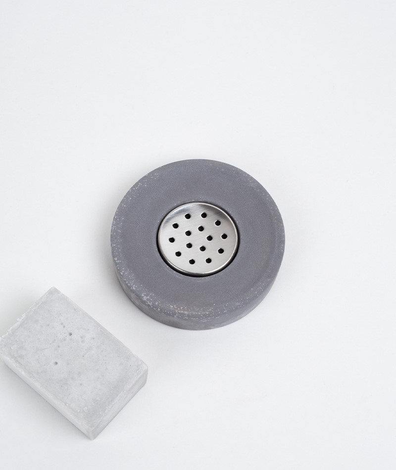HOUSE DOCTOR Cement Soap dish grey