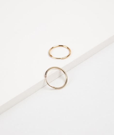 TOO DREAMY Blank Mini Hoops Ohrring gold