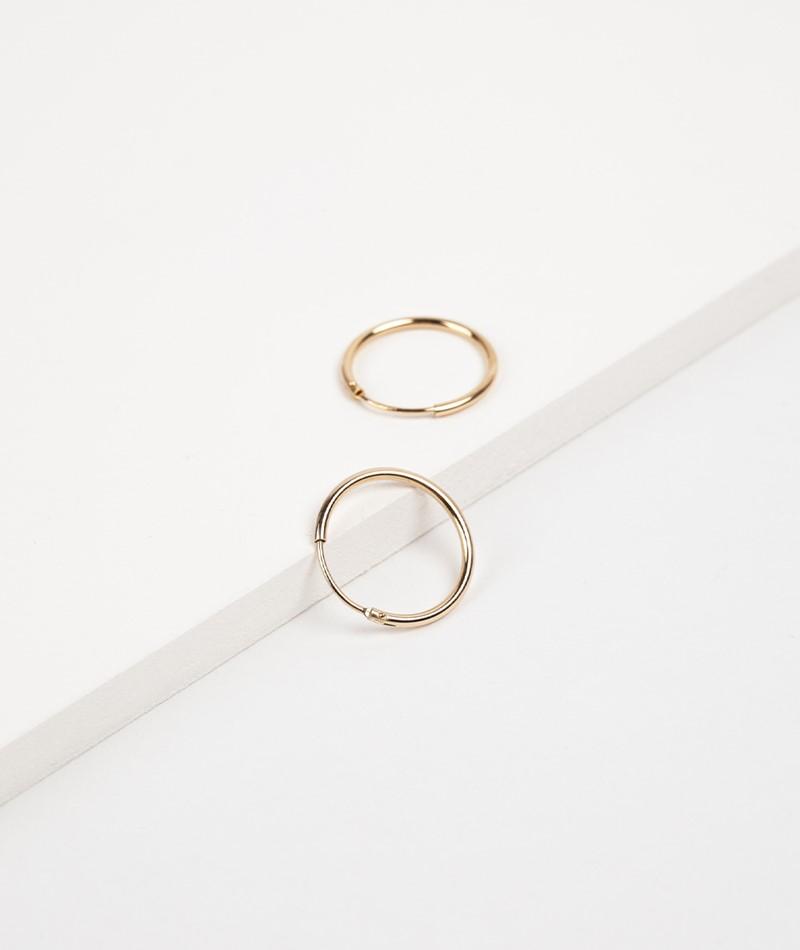 TOO DREAMY Blank Mini Hoops Ohrring gold