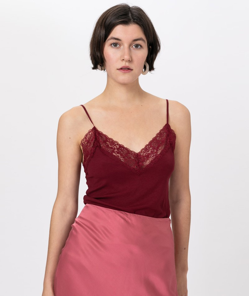 SELECTED FEMME SLFMio Top cabernet