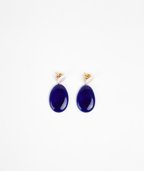 LOUISE KRAGH Unik Ohrringe royal blue