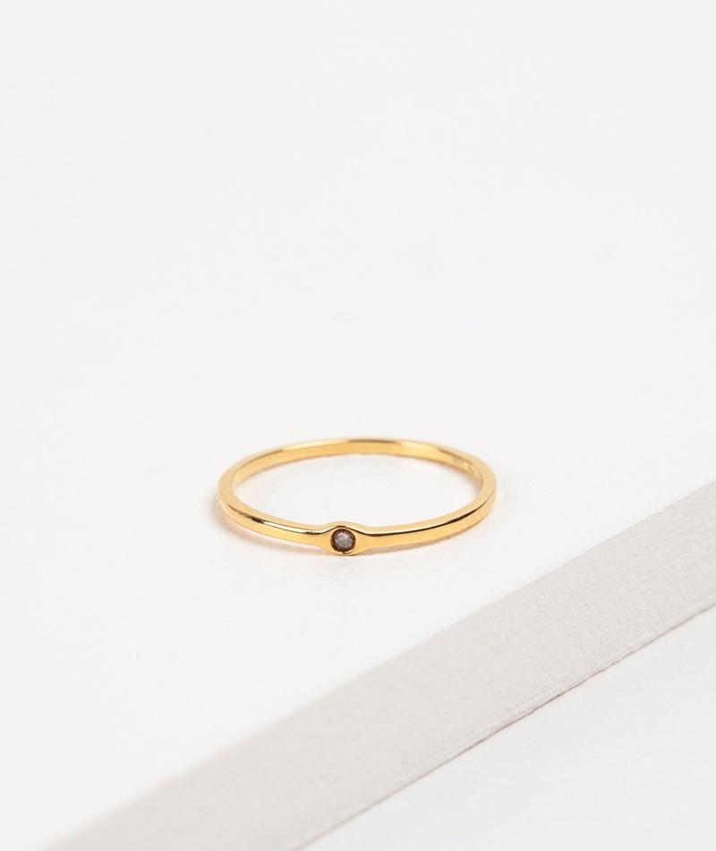 LOUISE KRAGH Rawdiamond Ring gold