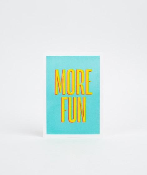 KAUF DICH GLÜCKLICH Postkarte more fun