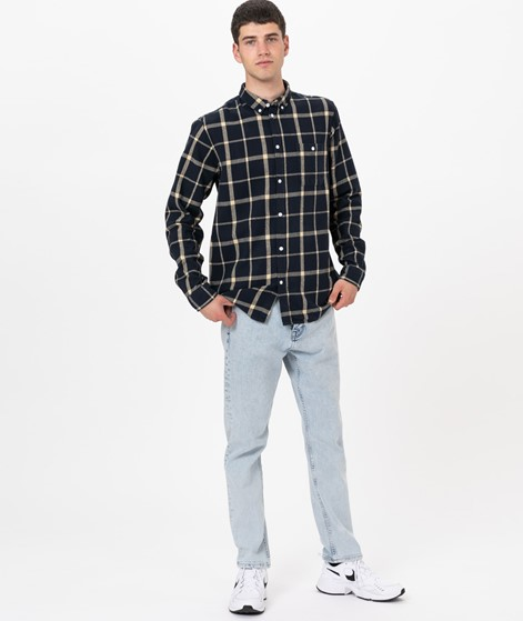 SUIT Rufus Checked Hemd navy