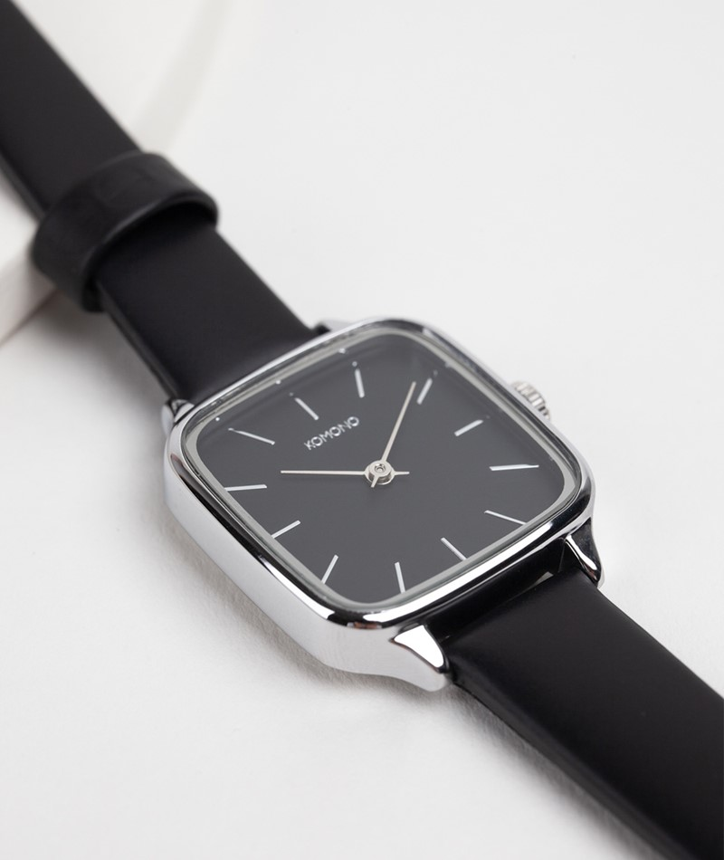KOMONO Kate Uhr black silver