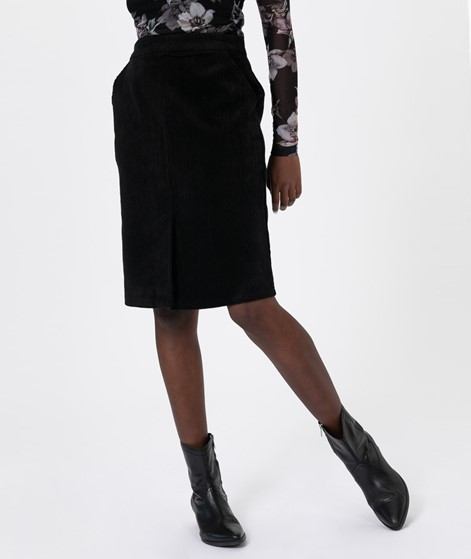 JUST FEMALE Jane Midi Skirt Black