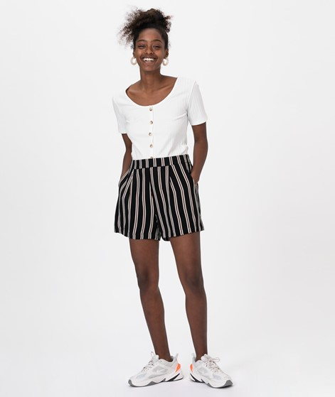 MOSS CPH Elin Shorts black/aragon stripe