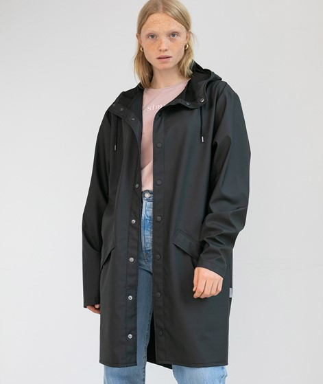 RAINS Long Jacke black