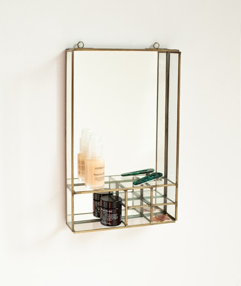 MADAM STOLTZ Wall Mirror shelves