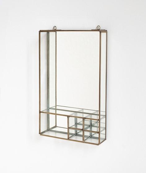 MADAM STOLTZ Wall Mirror shelves