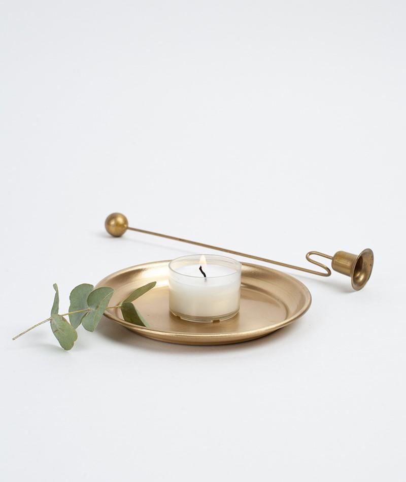 MADAM STOLZ Round Brass Tray Geschirr