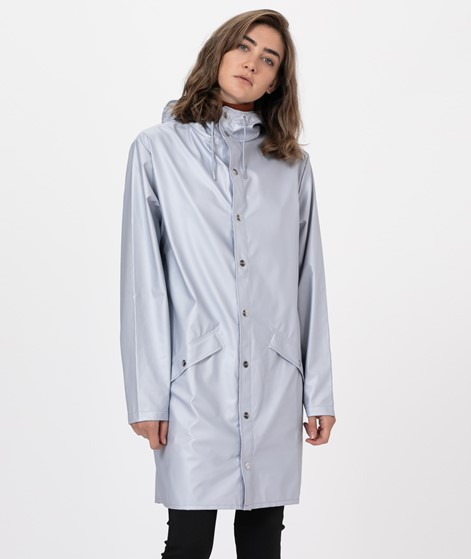 RAINS Long Jacket Jacke metallic grey