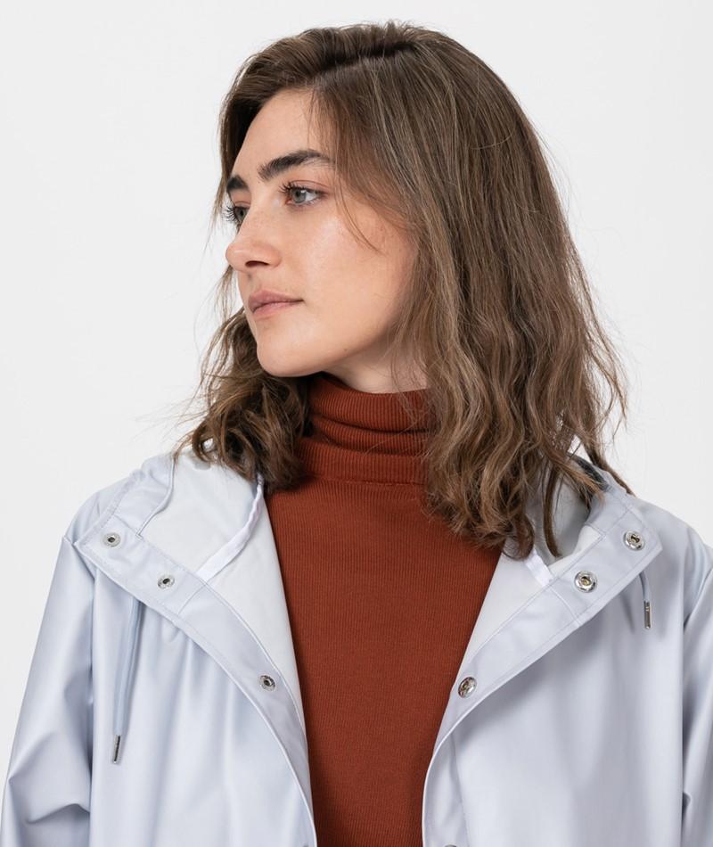 RAINS Long Jacket Jacke metallic grey