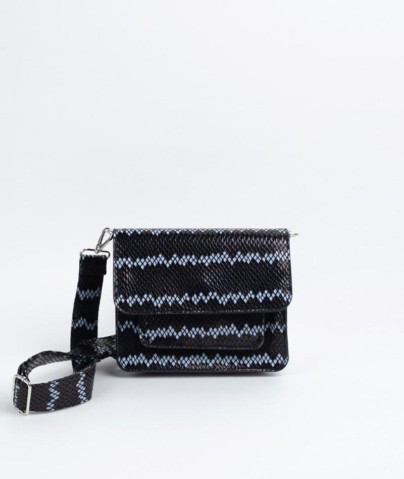 HVISK Cayman Snake Handtasche black
