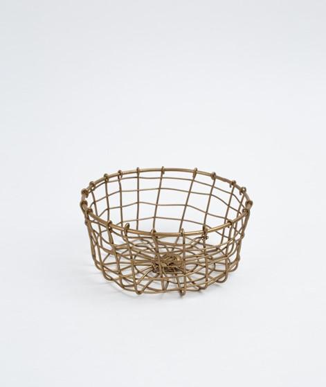 MADAM STOLTZ Round Basket ant. brass