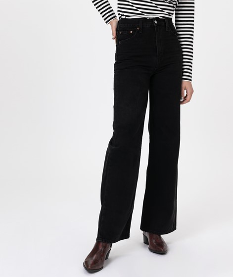 LEVIS Ribcage Wide Leg Jeans black book