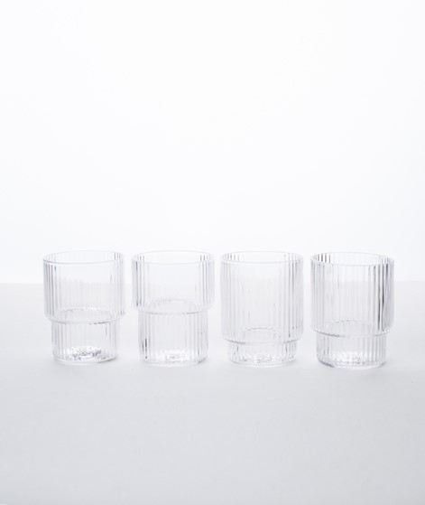 FERM LIVING Ripple Schnapsglas 4er Set