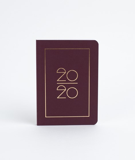 NAVUCKO Taschenkalender / Diary 2020 ruby