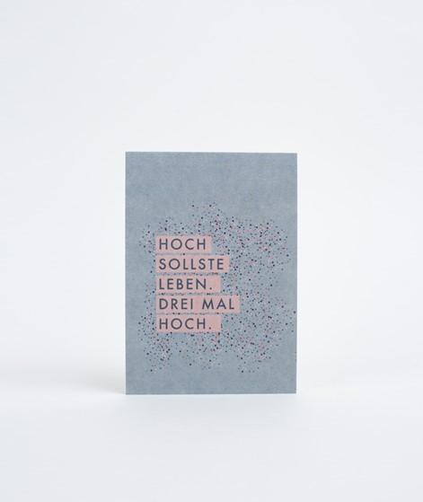 PAPIER AHOI Hoch sollste leben Postkarte