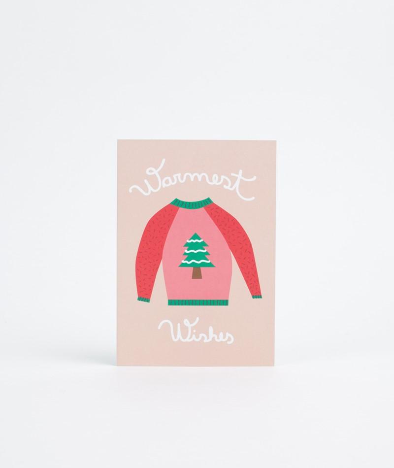 KAUF DICH GLÜCKLICH Postkarte Warmest